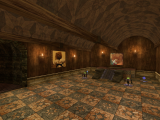 The old throne room - vaulted roof and steps up to teleport.